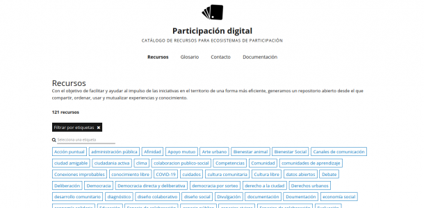 Captura de pantalla de Participación digital