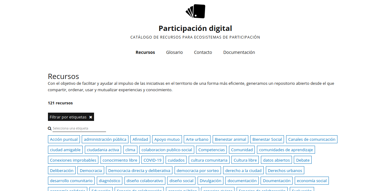 Captura de pantalla de Participación digital